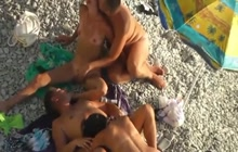 Nudist foursome