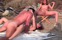 Threesome Nude Sex At the Beach S7 with Rosanna De La Vega