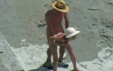 Horny nudists on the beach