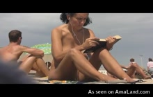 Hot chicks fully naked in Barcelona beach